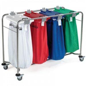 4 Bag Laundry Trolley